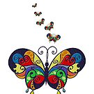 Painted Butterfly by BigAl3D