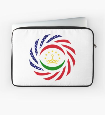 Tajik American Multinational Patriot Flag Series Laptop Sleeve