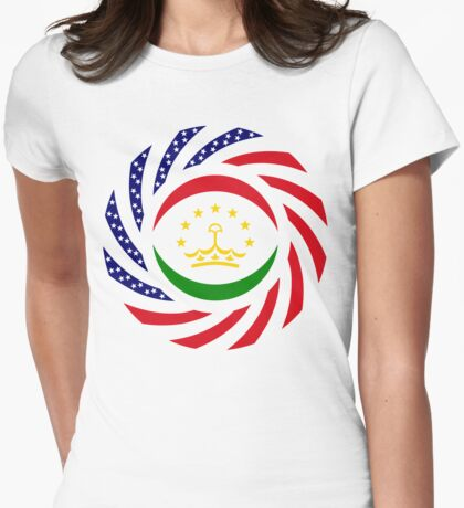 Tajik American Multinational Patriot Flag Series T-Shirt