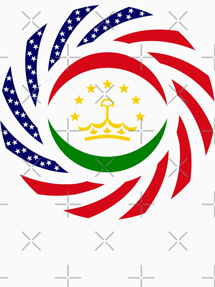 Tajik American Multinational Patriot Flag Series by carbonfibreme