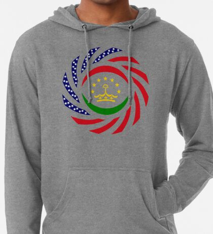 Tajik American Multinational Patriot Flag Series Lightweight Hoodie