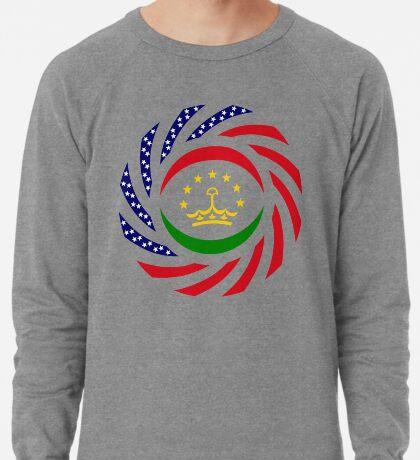 Tajik American Multinational Patriot Flag Series Lightweight Sweatshirt