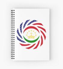 Tajik American Multinational Patriot Flag Series Spiral Notebook