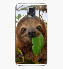 Baby Brown throated Three toed sloth Case/Skin for Samsung Galaxy
