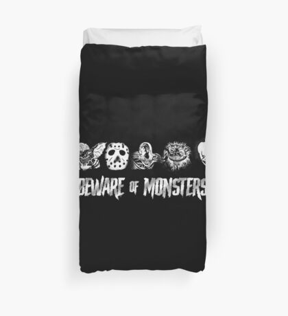 Beware of Monsters Duvet Cover