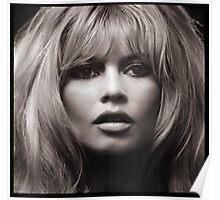 Brigitte Bardot's face up close poster Poster