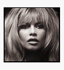 Brigitte Bardot's face up close poster Photographic Print