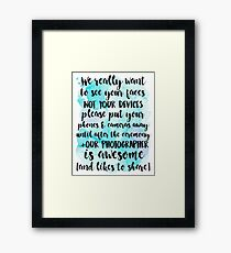 Unplugged Wedding - Watercolor Framed Print