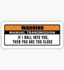 Warnung - manuelle Übertragung Sticker