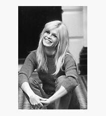 Brigitte Bardot Smiling Photographic Print