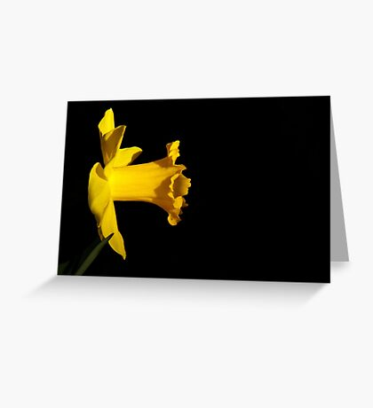 Yellow (With Green) Greeting Card