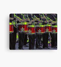 Drummers a-drummin' Canvas Print