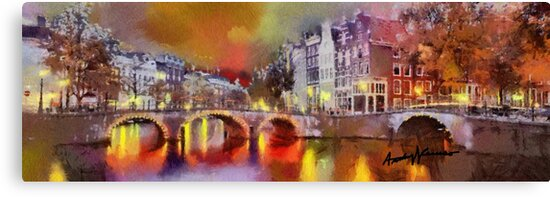 Amsterdam at Night by anthonycaruso