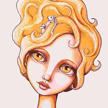 Bunny Bouffant (Orange Version) by LittleMissTyne