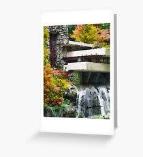Falling Water Greeting Card