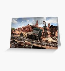 The Wild West Scene Greeting Card