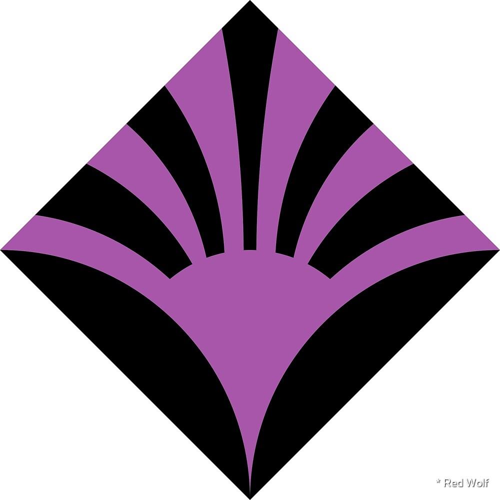 Geometric Pattern: Deco Sunset: Purple/Black by * Red Wolf