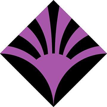 Geometric Pattern: Deco Sunset: Purple/Black by redwolfoz
