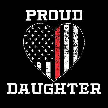 Thin Red Line Proud Daughter by teesaurus