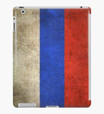 Old and Worn Distressed Vintage Flag of Russia iPad Case/Skin