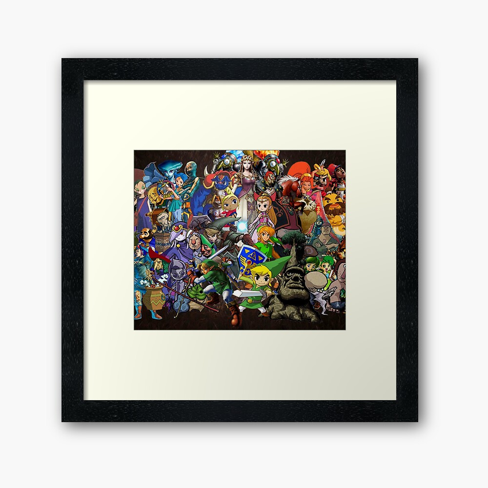 Zelda all Characters Framed Art Print