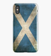 Old and Worn Distressed Vintage Flag of Scotland iPhone Case