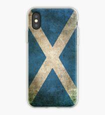 Alte und abgenutzte beunruhigte Weinlese-Flagge von Schottland iPhone-Hülle & Cover