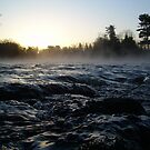 Rushing water in Missississippi river by NiftyGaloot