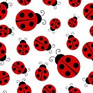 Ladybug Pattern Print by BigAl3D