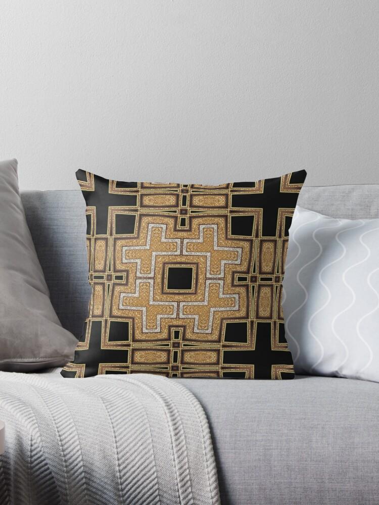 Black Gold Geometric Glam by webgrrl