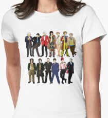 Doctor Who - Alternate Costumes 13 Doctors Womens Fitted T-Shirt