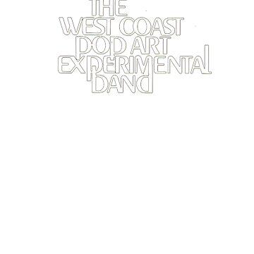 Logotipo de la Banda Experimental de Arte Pop de la Costa Oeste TEXTO GRANDE de tommy2shots