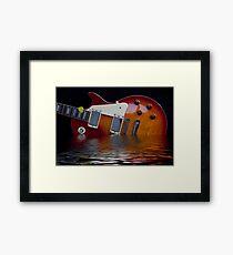 Guitar and Flood Framed Print