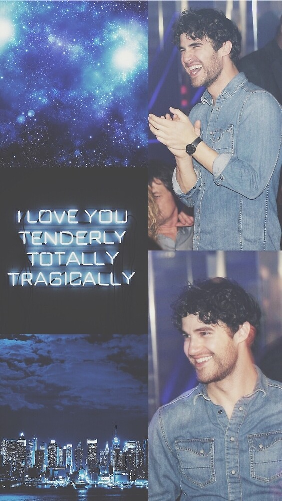 darren criss blue aesthetic collage by sarabbz