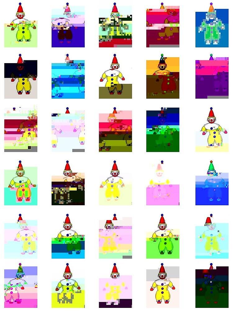 Clown clip art- glitched by psychotica