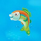 Jumping Fish - iPhone case by KenRinkel