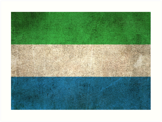 Old and Worn Distressed Vintage Flag of Sierra Leone by jeff bartels