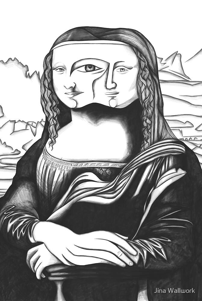 Mona Lisa 38 by Jina Wallwork