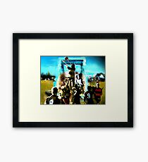 """Football in OZ"" Framed Print"