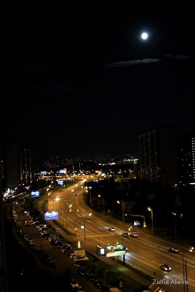 night Moscow by Zulfia Alieva