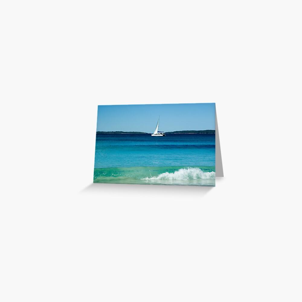 Gentle Wave - Hyams Beach, NSW Greeting Card