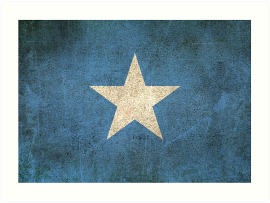 Old and Worn Distressed Vintage Flag of Somalia by jeff bartels