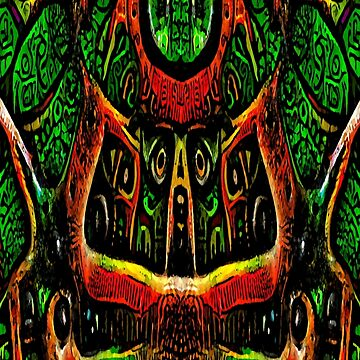 ABSTRACT ARTWORK - THRONE OF THE OWLS - CREEPY DYSTOPIAN ARTWORK TO FREAK OUT YOUR FLATMATE by cradox