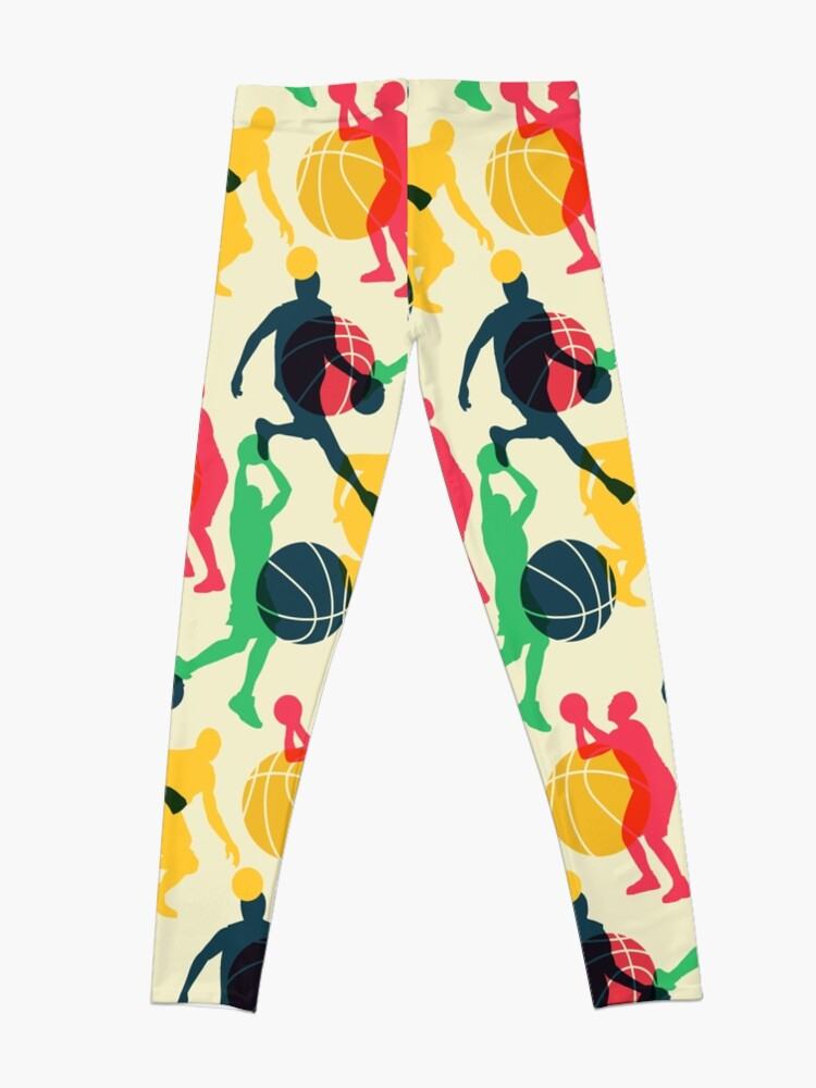 Alternate view of Basketball Sport Ball Team Pattern Leggings