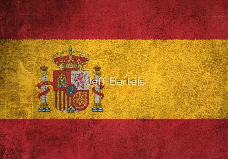 Old and Worn Distressed Vintage Flag of Spain\