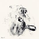 Typographical Grenades #3 - Monotype by Pascale Baud