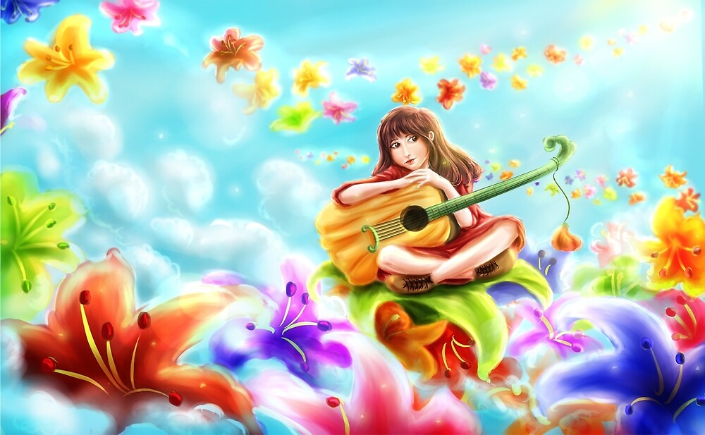 Dreaming guitarist by PhinPhin
