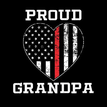 Thin Red Line Proud Firefighter Grandpa by teesaurus