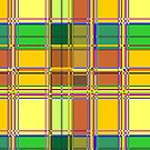 Caribbean Colorful Fabric Madras Tartan by BluedarkArt