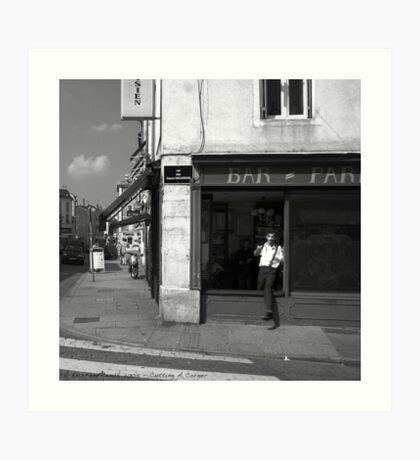 Cutting A Corner - Nancy, France Art Print